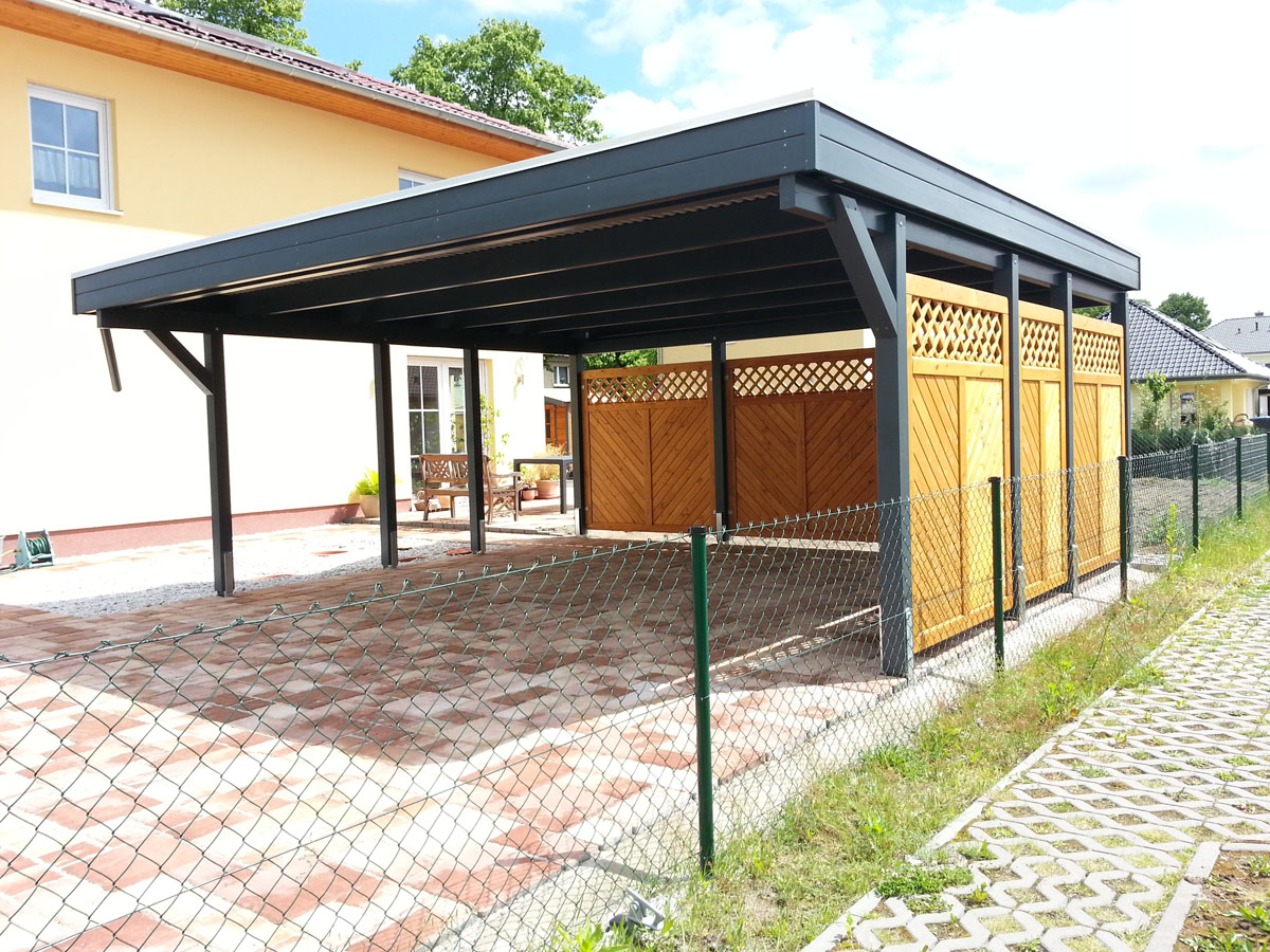 carport bei wendt haus. Black Bedroom Furniture Sets. Home Design Ideas